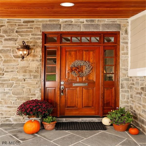 Fancy Double Solid Wood Doors Exterior