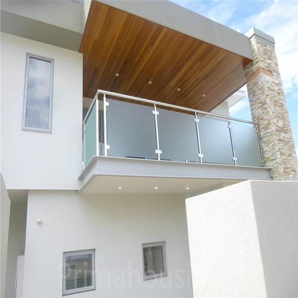 Glass Stair Railings Stainless Steel Outdoor Railing Parts