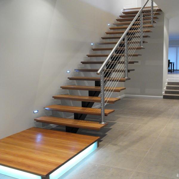 Single Stringer Modern Design Interior Painted Wood