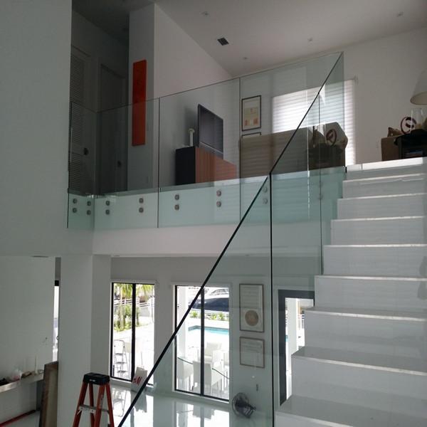 ... Frameless Standoff Glass Railing For Outdoor Balcony Railing System  PR B73 ...