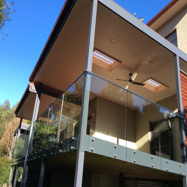 Frameless Standoff Glass Railing For Outdoor Balcony Railing System