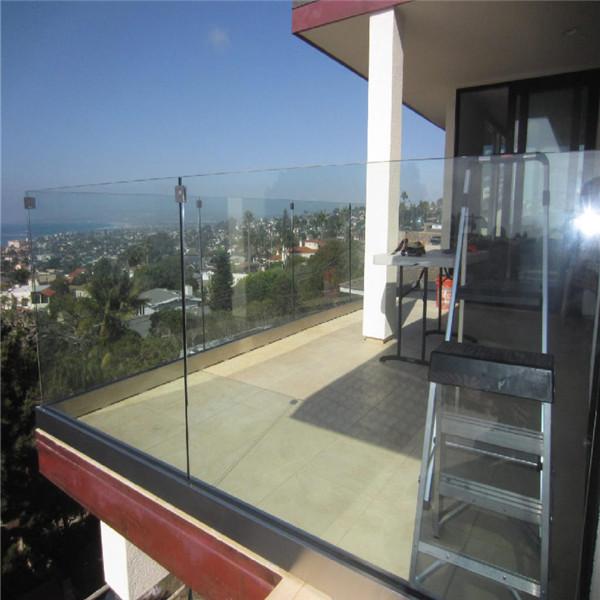 ... Frameless U Channel Terrace Glass Railing Modern Design PR-B39 ...