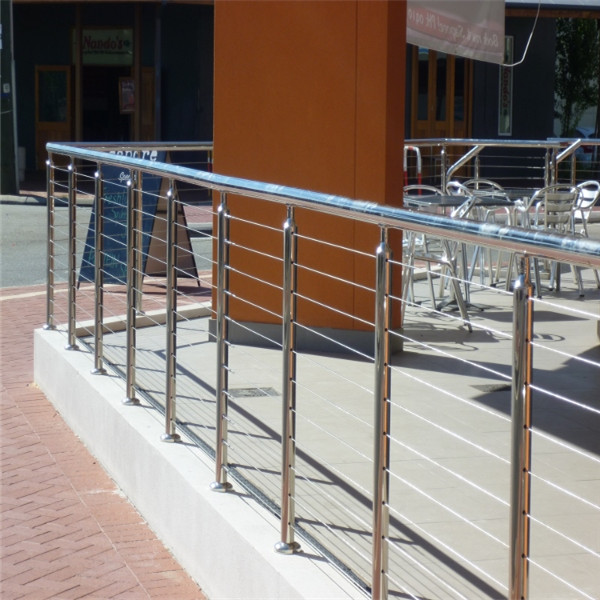 Stainless steel pipe railing cable railings