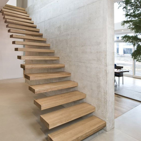 Quality Good Price Wooden Floating Staircase