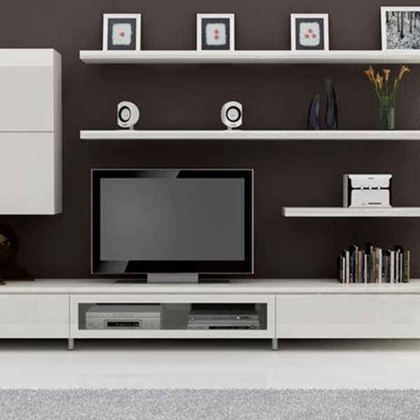 Tv Table High Gloss White And Tv Entertainment Units