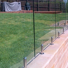 Customized spigots glass railing - Advantage using tempered glass fencing swimming pool balcony deck ...