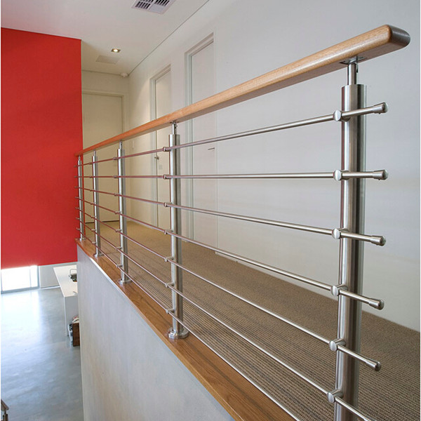 40 Trending Modern Staircase Design Ideas And Stair Handrails: Stainless Steel Wire Rod Railing Design