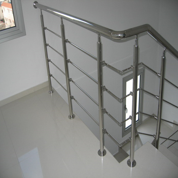 Side Mounted Stainless Steel Rod Railing Design For Internal Wood Staircase  Steel Grill PR B128 ...