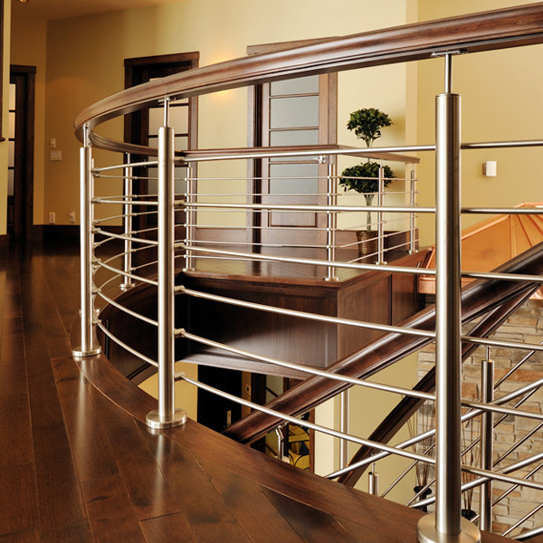 Side Mounted Stainless Steel Rod Railing Design For