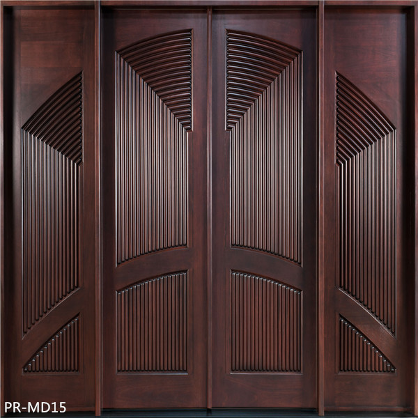 Solid Wood Main Entrance Wooden Door Designs
