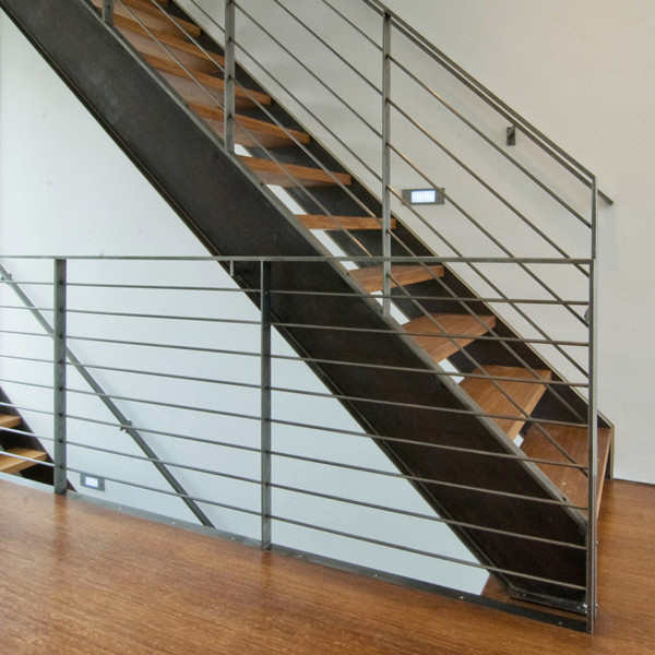 Outdoor Indoor Wood Step Straight Staircase Lowes Non Slip Stairs Treads