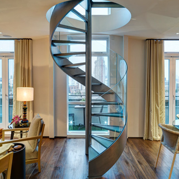 Modern Spiral Staircase Steel Stair With Stainless Steel