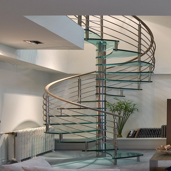 Spiral Staircases With Cable Metal Stairs External