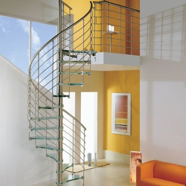 DIY Indoor Spiral Tempered Glass Staircase PR S31