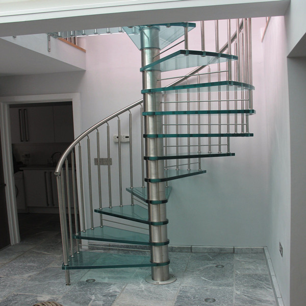 Diy Indoor Spiral Tempered Glass Staircase