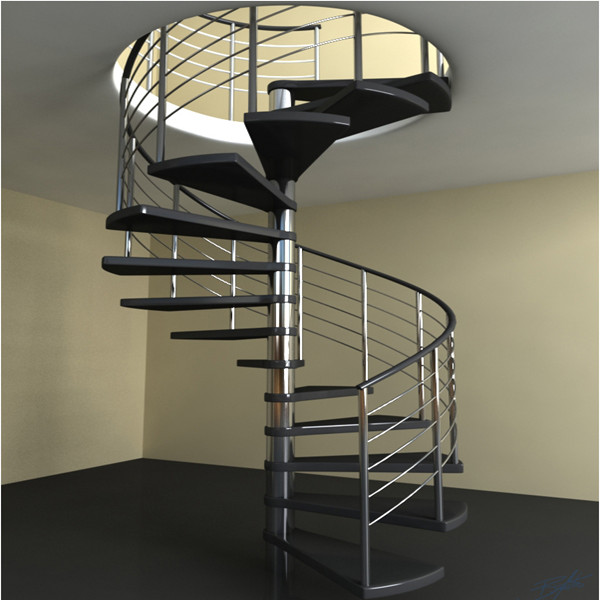 Modern Living Room Staircase Spiral Steel Staircase Design