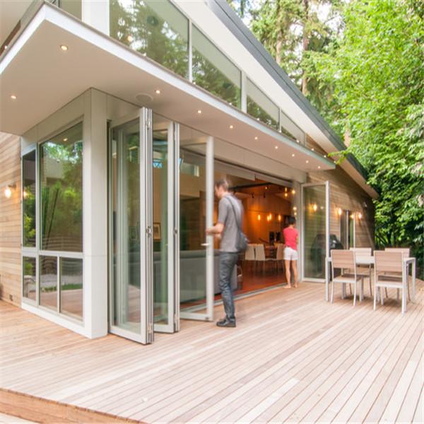 Aluminum folding door/glass folding door/stacking sliding door for house