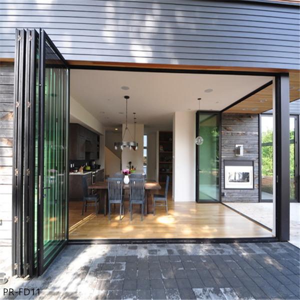 Outdoor Aluminum Folding Glass Doors System