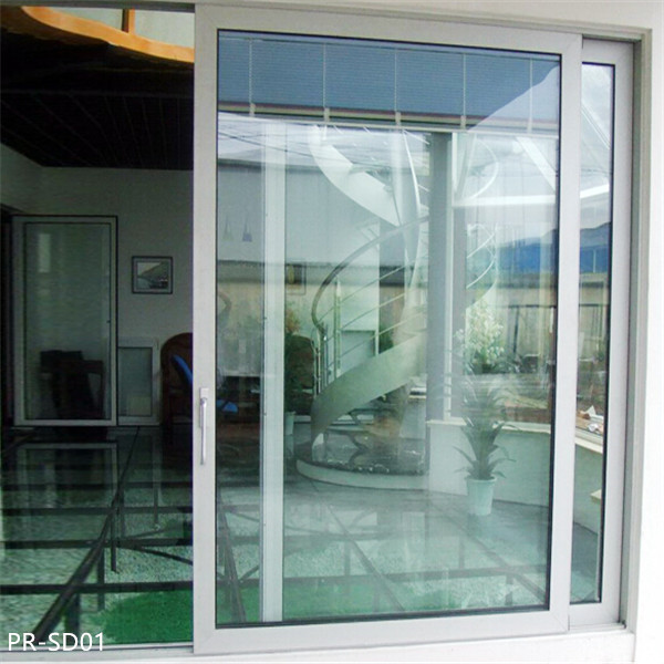Powder Coating Aluminum Large Glass Sliding Doors