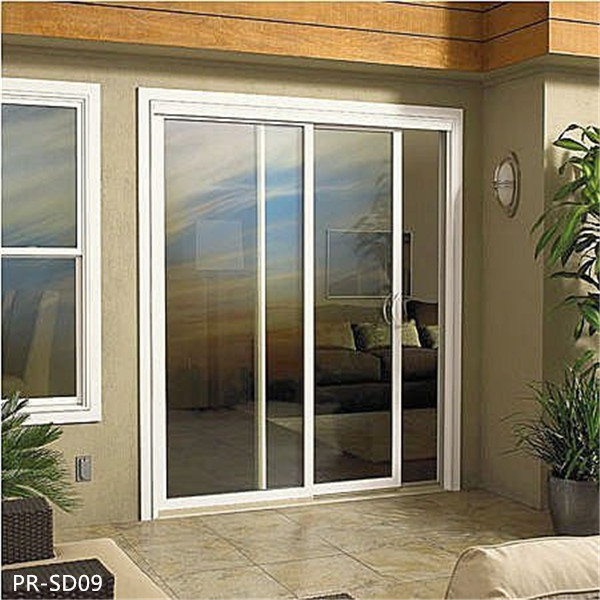 Aluminum Sliding Door With Electric Remote Control Blind