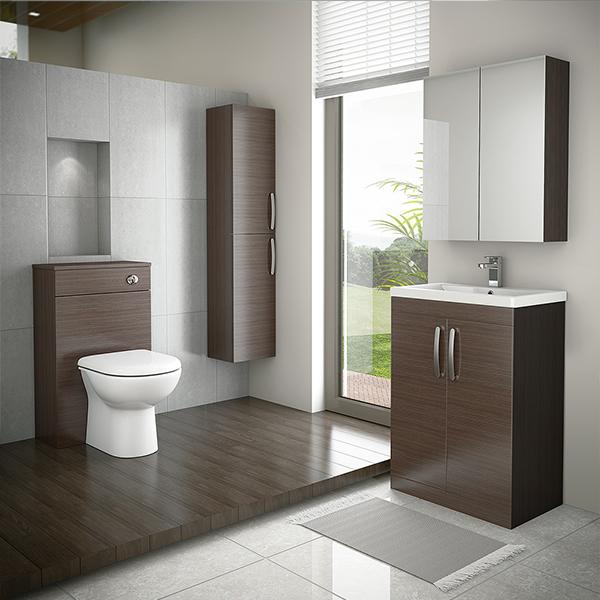 Floor Standing Simple Design Melamine Bathroom Vanity With Side Cabinet