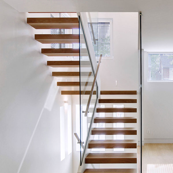 DIY Prefabricated Floating Staircase with Safety Glass ...