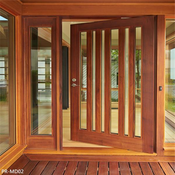 Double Entrance Swing Solid Wooden Door Door Price