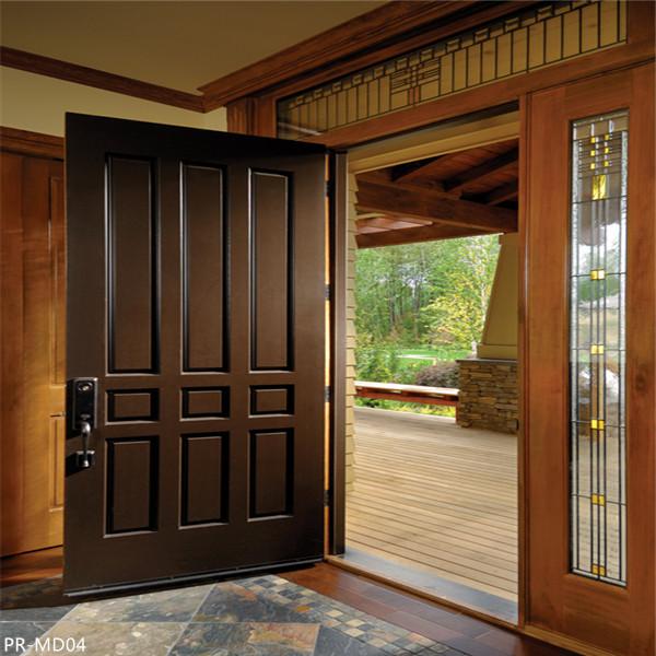 double entrance swing solid wooden door, door price